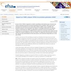 EFSA Features: Rapport sur l'iARN: préparer l'EFSA à la prochaine génération d'OGM
