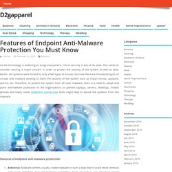 Features of Endpoint Protection