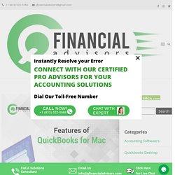 Features of QuickBooks for Mac - Q Financial Advisors