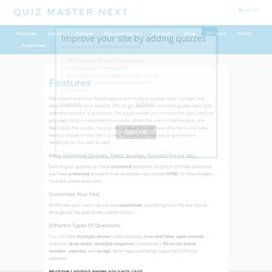 Features - Quiz Master Next