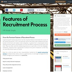 Features of Recruitment Process