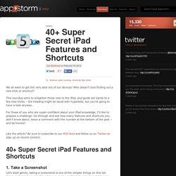 40+ Super Secret iPad Features and Shortcuts