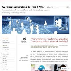 How Features of Network Simulators Can Help Achieve Network Stability?
