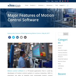 Major Features of Motion Control Software