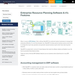 10 Best Features of ERP Software - Tally Solutions