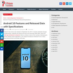 Android 10 Features and Released Date with Specifications