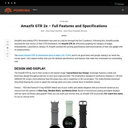 Amazfit GTR 2e - Full Features and Specifications - Poorvika Blog