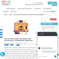 Top 10 Must-Have Features for Successful eCommerce Websites