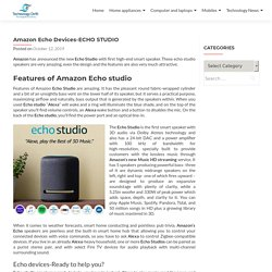 Amazon echo studio-Price and features in India-Technologydrift