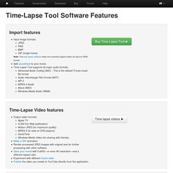 Time Lapse Tool