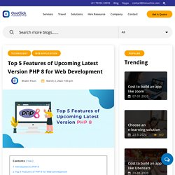Top 5 Features of Upcoming Latest Version PHP 8