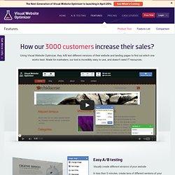 Features - Visual Website Optimizer - Visual Website Optimizer