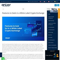 Features to Seek in a White Label Crypto Exchange