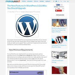 The New Features In Wordpress 3.2 & Why You Should Upgrade