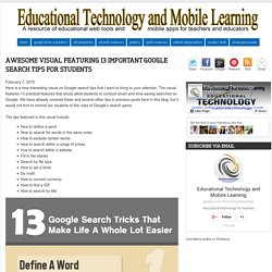 Awesome Visual Featuring 13 Important Google Search Tips for Students
