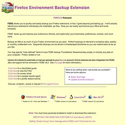 FEBE Firefox Extension