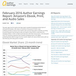 February 2016 Author Earnings Report: Amazon's Ebook, Print, and Audio Sales – Author Earnings