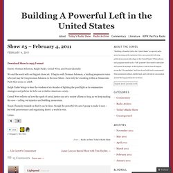 Show #5 – February 4, 2011 « Building A Powerful Left in the United States