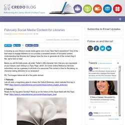 February Social Media Content for Libraries