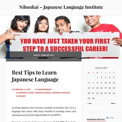 February 2017 – Nihonkai – Japanese Language Institute