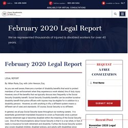 February 2020 Legal Report