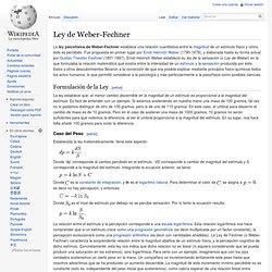 Ley de Weber-Fechner