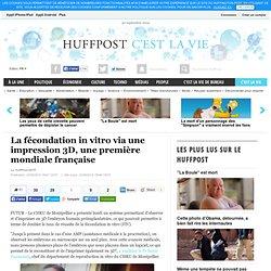 La fécondation in vitro via une impression 3D, une première mondiale française
