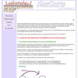 Mes Cours / Meïose, fécondation et stabilité des especes / Terminale S