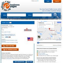 FedBiz Access - Government Contract Consultants in Saint Petersburg