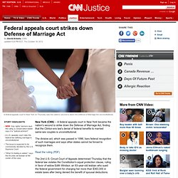 New York appeals court strikes down DOMA
