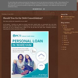 Should You Go for Debt Consolidation?
