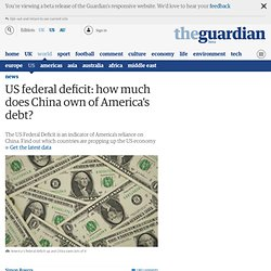 US federal deficit: how much does China own of America's debt?