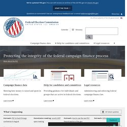 Federal Election Commission Home Page