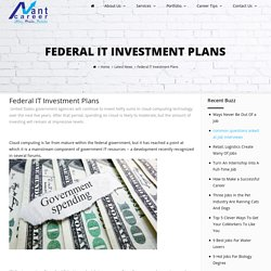 Federal IT Investment Plans