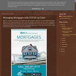 Managing Mortgages with COVID-19 Crisis