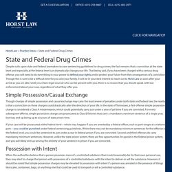 State and Federal Drug Crimes, Nashville Criminal Defense Lawyer
