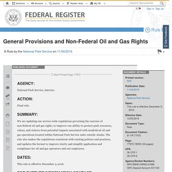 General Provisions and Non-Federal Oil and Gas Rights [Federal Register]
