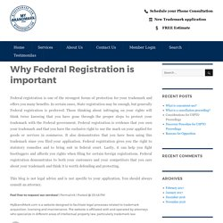 Why Federal Registration is important – My Brand Mark Blog