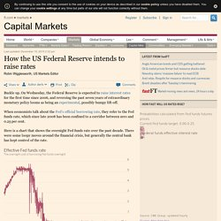 How the US Federal Reserve intends to raise rates