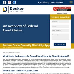 Federal Social Security Disability Appeals