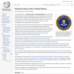 Federal crime in the United States