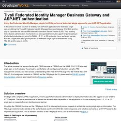 Tivoli Federated Identity Manager Business Gateway and ASP.NET authentication