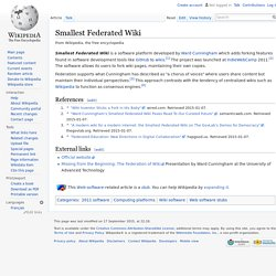 Smallest Federated Wiki