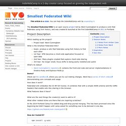 Smallest Federated Wiki - IndieWebCamp