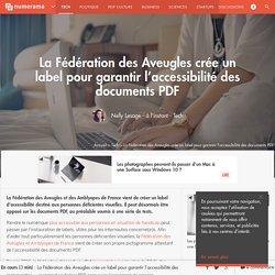 La Fédération des Aveugles crée un label pour garantir l'accessibilité des documents PDF