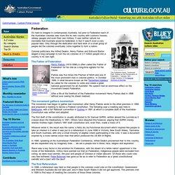 Federation - Australia's Culture Portal