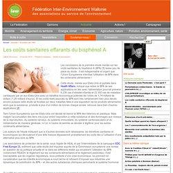 Les coûts sanitaires effarants du bisphénol A