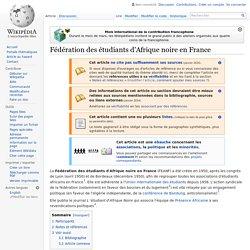 Fédération des étudiants d'Afrique noire en France