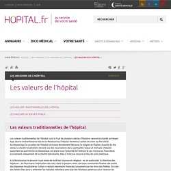 hopital.fr - Les valeurs de l'hôpital