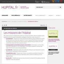 Les missions de l'hôpital - hopital.fr - Fédération Hospitalière de France